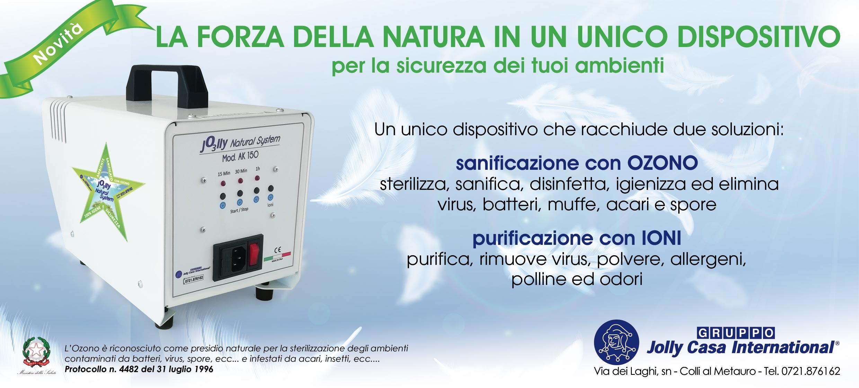 """NOVITA' """"GENERATORE DI OZONO E IONI: DUE SOLUZIONI IN UN UNICO DISPOSITIVO"""""""