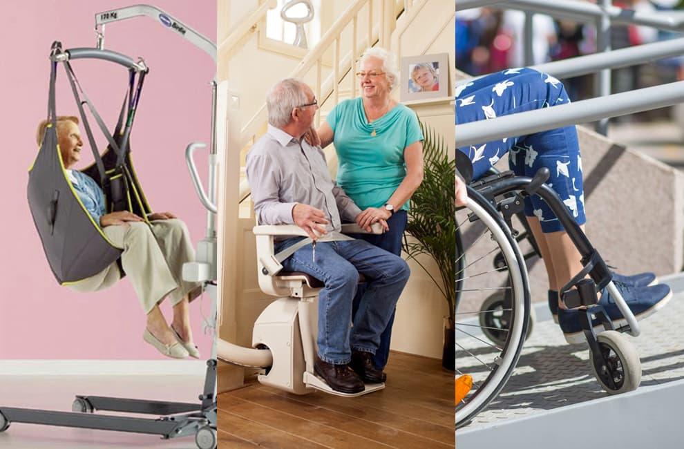 Ausili per disabili: sollevatori, imbracature, montascale e rampe